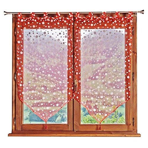 vitrages-2-rideaux-a-pois-60x120cm-rouge