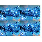 ASCENSION Set Of 6 Rice Lights Serial Bulbs Decoration Lighting For Diwali Christmas (Blue)