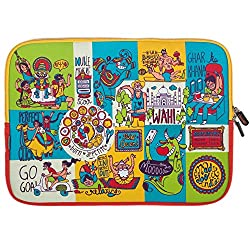 Chumbak  CLAP018-15 15-inch Mad About India Laptop Sleeve (Multicolor)