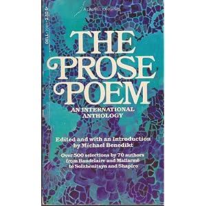 The Prose Poem: An International Anthology