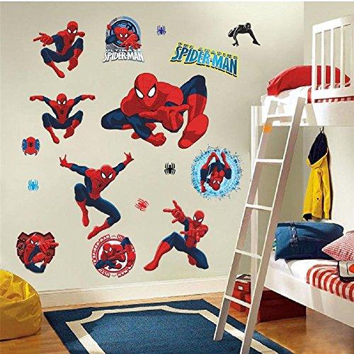 [3D Spiderman Wall Sticker Home Decor decal Cartoon Mural Art Wallpaper Waterpoof (Design#2)] (Theatre Costume Closet)