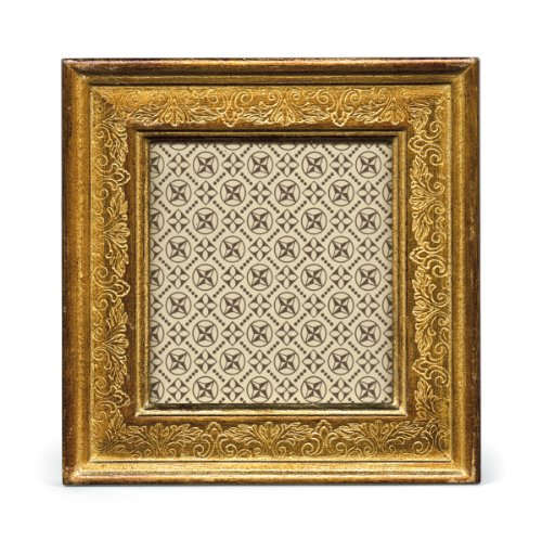 Cavallini Papers Florentine Frame, 3 by 3-Inch, Verona Gold