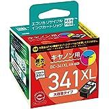 エコリカ リサイクルインクカートリッジ CANON カラー3色 BC-341XL ECI-C341XLC-V