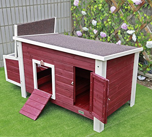 "Petsfit 53""L X 25""W X 28""H Outdoor Chicken Barn Chicken Coop With Nesting Box"