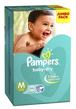 Image result for Pampers Medium Size Diapers Jumbo Pack (66 Count)