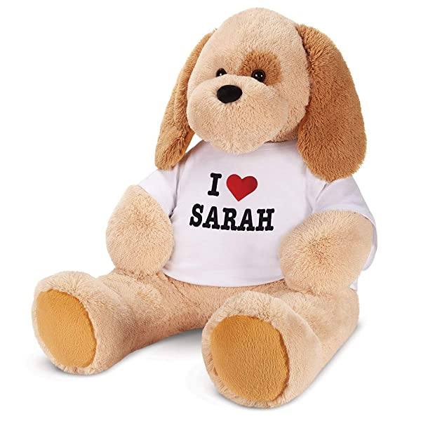 Vermont Teddy Bear Big Stuffed Dog - Stuffed Animal Dog, Custom, Jumbo, 4 Foot (Color: I Love You Puppy)