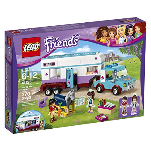 LEGO-Friends-41125-Horse-Vet-Trailer-Building-Kit-370-Piece
