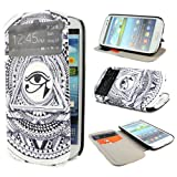 TUTUWEN E8 Painting Art Design PU leather Flip Cover Case for Samsung Galaxy S3 III i9300
