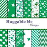 Digital Scrapbook Paper on CD - St. Patrick s Day