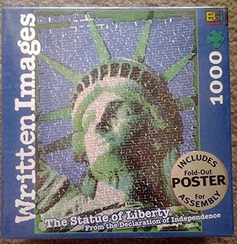 Written Images: The Statue of Liberty From the Declaration of Independence 1000 by Don Scott