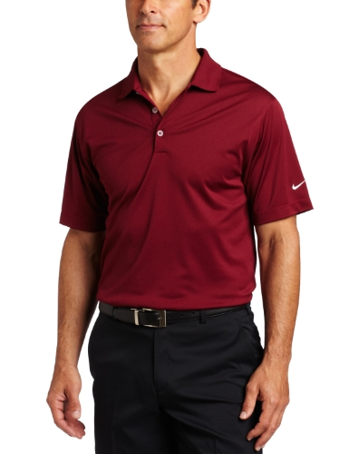 Nike Golf Men's Stretch UV Tech Polo ( Team Maroon/White,