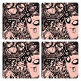 Posterboy The Alien Selfie MDF Coaster Set, Set Of 4, 101mm, Multicolor