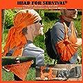 Head for Survival® ORANGE Triangular Bandana / Cravat with Survival Information