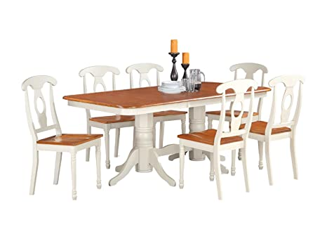 East West Furniture NAKE5-WHI-W 5-Piece Dining Table Set