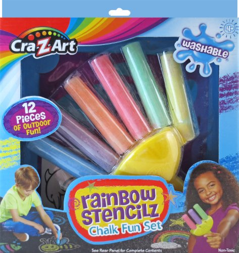 Cra-Z-Art Rainbow Stencilz Chalk Fun Set - 1