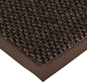 "Notrax 136 Polynib Entrance Mat, for Lobbies and Indoor Entranceways, 2' Width x 3' Length x 1/4"" Thickness, Brown"