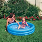 Kiddie Pool - Intex - Inflatable Crystal Blue Swimming Pool For Children (45in X 10in)