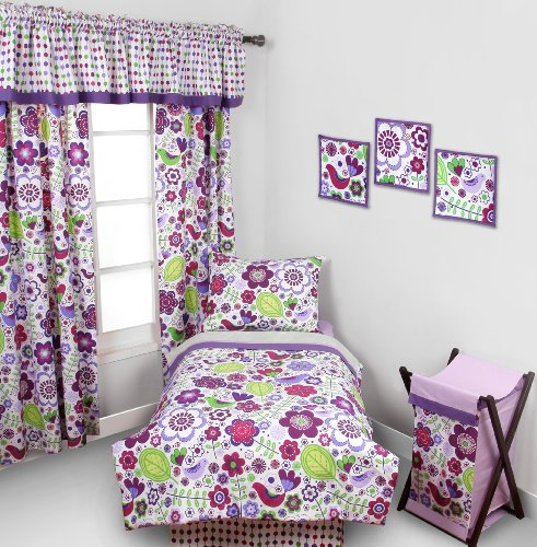 Botanical Purple 4 pc Toddler Bedding Set - 1