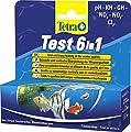 Tetra Test 6 in 1, Wassertest für das Aquarium, 1 Packung je 25 Teststreifen