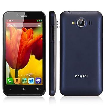 """Smartphone ZOPO ZP600+ 4.3"""" écran tactile Naked Eye 3D Google Android 4.2 Débloqué + 8G TF carte - Quad Core Dual SIM 3G Wi-Fi Bluetooth GPS E-compass - Noir - caméra arrière (5.0 mégapixels), caméra f"""