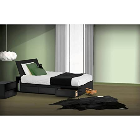 Modern Twin Size Bedroom Kit With Headboard and Night Stand FMP25134