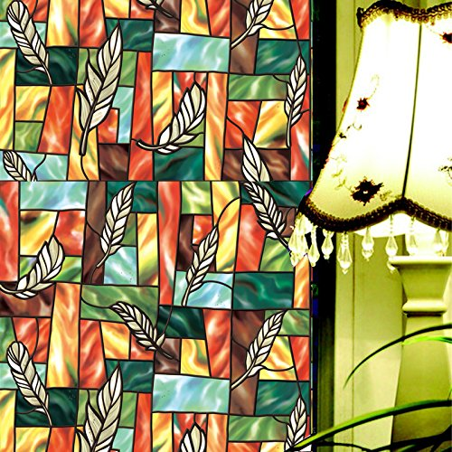 fancy fix vinyl static window cling stained glass decorative privacy window new ebay. Black Bedroom Furniture Sets. Home Design Ideas