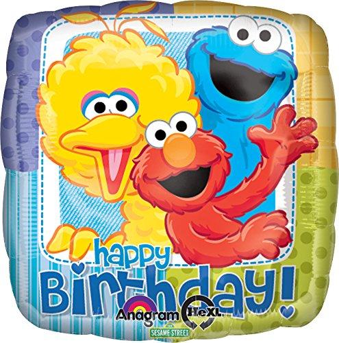 Anagram International Sesame Street Birthday Foil Balloon Pack, Multicolor - 1