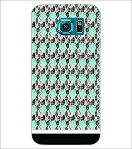 PrintDhaba Pattern D-1824 Back Case Cover for SAMSUNG GALAXY S6 EDGE (Multi-Coloured)