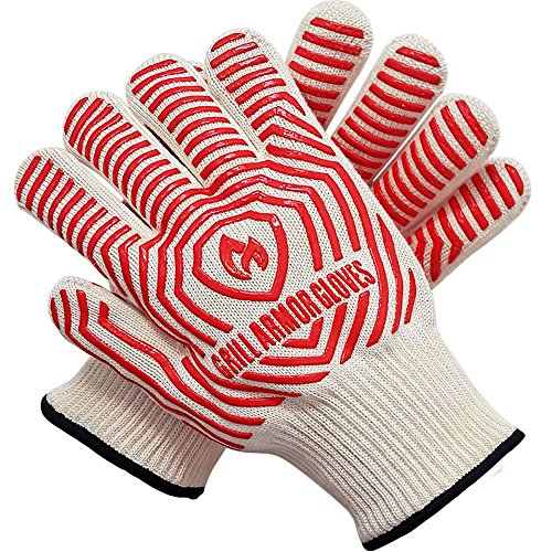 Grill Armor 932°F Extreme Heat Resistant Oven Gloves - EN407 Certified BBQ Gloves For Cooking, Grilling, Baking - Lady Small Size (Small Stove Oven compare prices)