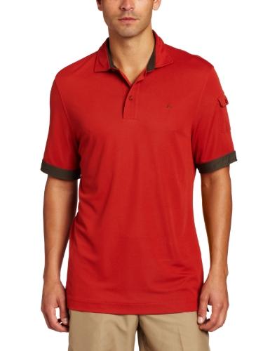 J.Lindeberg Men's Leighton Regular Dobby Field Shirt, Orange, X-Large