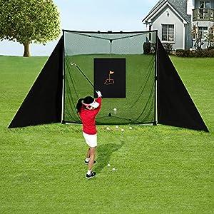 JaeilPLM Portable Golf & Baseball Practice Net Setup Full Kit with High Quality Portable Bag