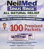 Sinus Rinse Regular Mixture Packets - Relieves Allergies & Sinus Symptoms, 100 Salt Premixed Packets,(neilmed)