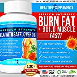 CLA Supplement - Lose Belly Fat Fast - CLA 1000mg Serving 3000mg/Day- Build Muscle Lose Fat - CLA With Safflower - Lose Arm Fat - CLA Softgels - Lose Back Fat - B2G1 - B3G2 - 100% Money Back Guarantee