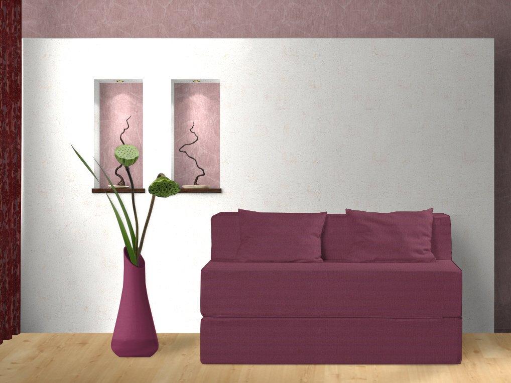 Schlafsofa, Bloom, rot, 135 cm online kaufen