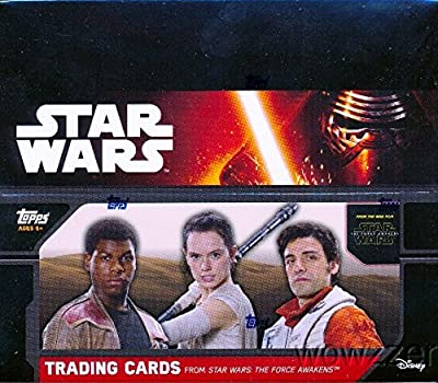 2015 Topps Star Wars the Force Awakens SPECIAL HOBBY EDITION HUGE Factory Sealed Box with 24 Packs & 144 Cards! Includes 3 EXCLUSIVE FOIL PARALLEL Sequentially Numbered Cards only Found in this Box!