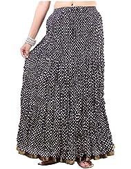Sunshine Enterprises Women's Cotton Wrap Skirt (Black) - B01HELQ9U2