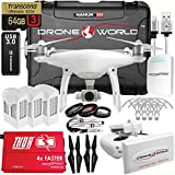 DJI-Phantom-4-V20-Executive-Kit-Bundle-with-Long-Range-Extender-System-Nanuk-950-Wheeled-Case-3-Batteries-with-Thor-Super-Charger-Carbon-Fiber-Propellers-Prop-Guards-and-More-Accessories