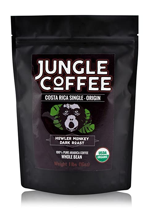 Jungle Costa Rican Coffee Beans Organic Dark Roast Whole Bean