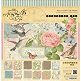 Graphic 45 Botanical Tea Pad for Scrapbooking, 12 by 12-Inch