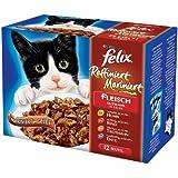 Felix Raffiniert-Mariniert Fleisch Mix 12x100g Katzenfutter von Purina