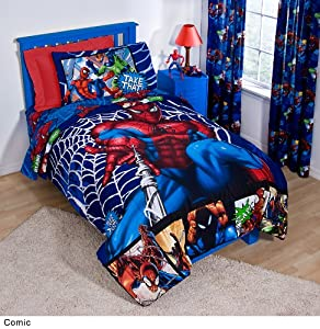 "Marvel Spiderman ""Comic"" Sheet Set, Full"