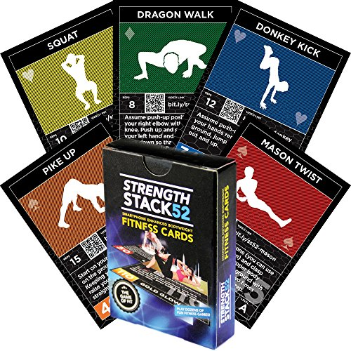Exercise Cards: Strength Stack 52 Bodyweight Workout Playing Card Game. Designed by a Military Fitness Expert. Video Instructions Included. No Equipment Needed. Burn Fat and Build Muscle at Home. (Blue Numbered Basketball Jersey compare prices)