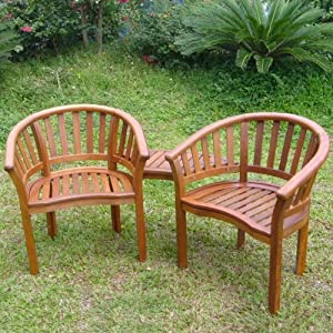 Garden patio hardwood novato love seat for 2 two with for Garden love seat uk