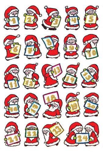 Herma HERMA Sticker Adventskalender Nikolaus, Goldpr.