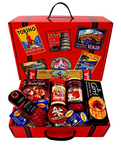 Italian tour deluxe gourmet gift basket with sopressata for Italian kitchen gifts