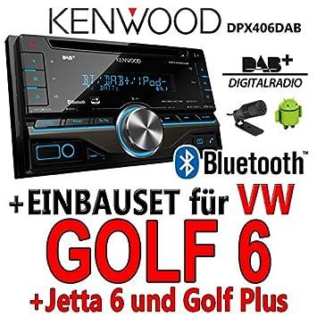 VW golf 6 dPX406DAB 2-dIN pour autoradio kenwood autoradio dAB uSB avec bluetooth avec