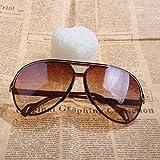 Vktech® Sport Sunglasses Brown Resin Lens Sunglass Sunglasses UV400 White Edge