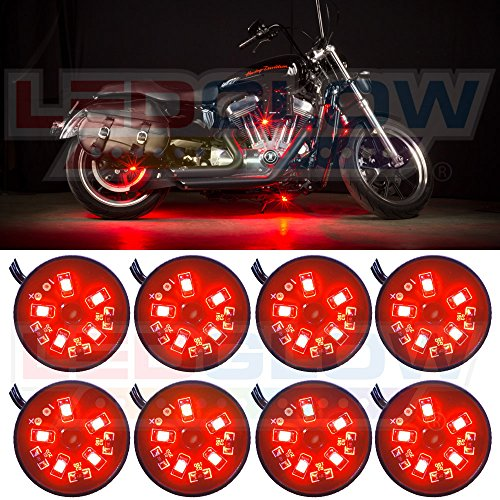 8Pc. Red Led Pod Lighting Kit