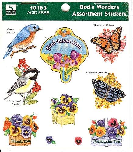 God's Wonders Assortment Stickers
