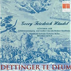 Georg Friedrich H�ndel: Te Deum (Sung in German) (Koch)